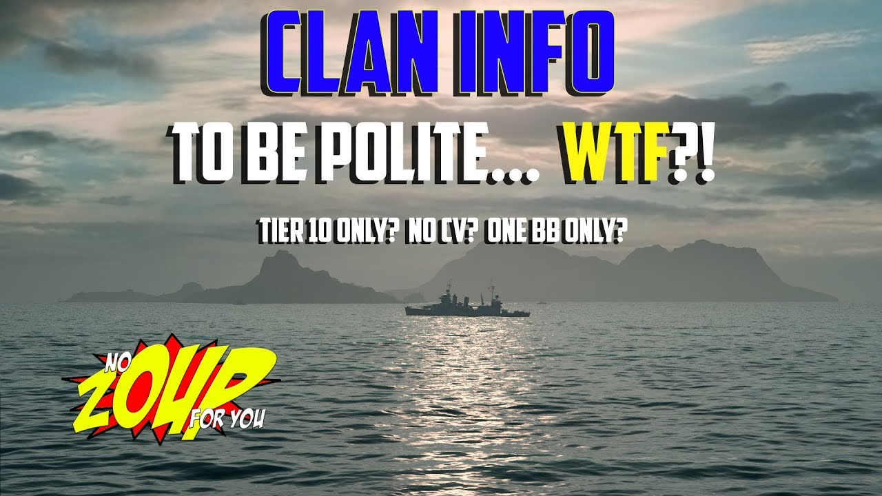 world of warships clans information - no cv - one bb