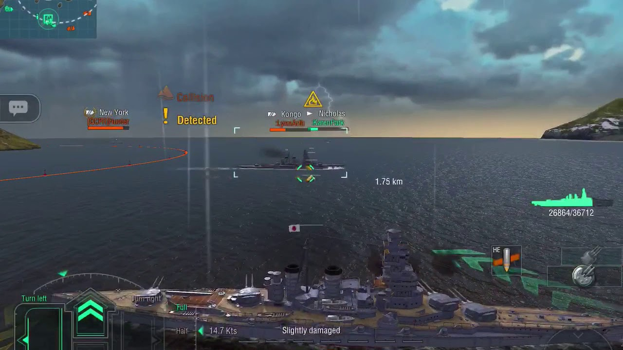 World of Warships Blitz - Kongo carries the game doing 90k damage