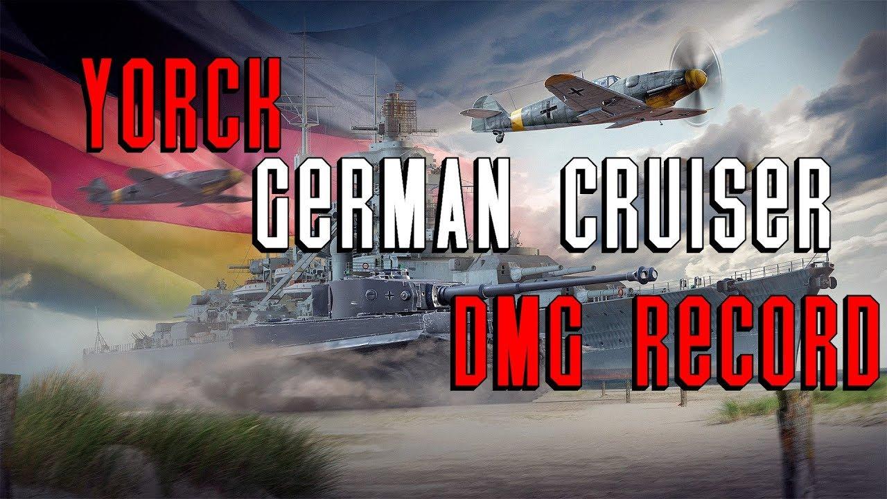 Yorck-DMG-NA-EU-Asia-Server-Record-World-of-Warships - Ship