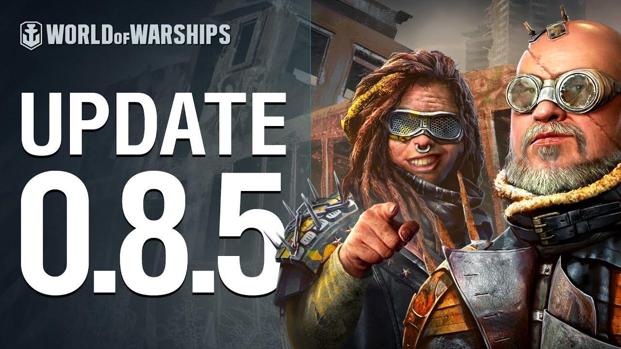 Dasha Presents Update 0 8 5   World of Warships