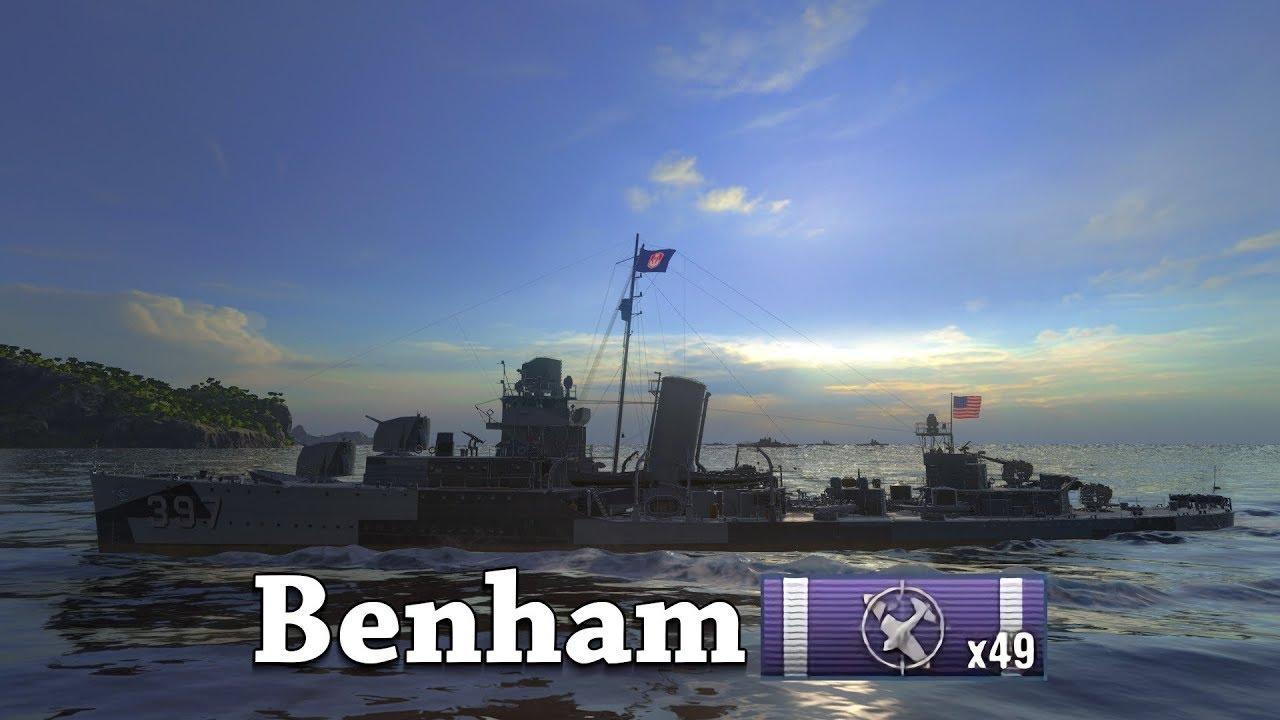 world of warships  benham